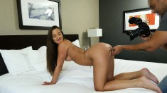 European beauty puts her superb body on display and gets banged in POV