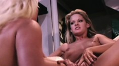 Blonde babe Stacy Valentine gets it on with horny Toni James