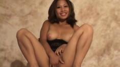 Astonishing Asian milf with big boobs Nalani gets her peach fingered