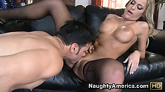 Mckenzee Miles gets eaten out after giving her man some head