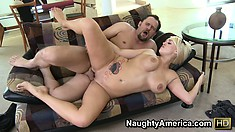 Anya Peacock looks both nasty and lovely on top of that dick