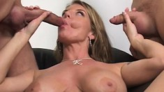 Kayla Quinn invites Donny Long and John Esposito to fulfill her urges