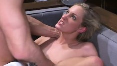 Insatiable college nympho Ashley Long has a hung boy plowing her ass