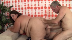 Huge bitch does sixty-nine and doesn't smother him before they get to fucking