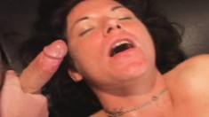 Nasty Brunette Gets Fucked By A Gang Of Boys And Swallows Their Juices
