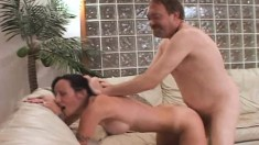 Horny Hayden works her lips and her pussy on every hard inch of cock