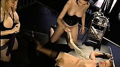 Sexy dominatrix Nina teaches her young students the art of fucking