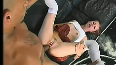 Irresistible young chick loves the taste of black man's spunk