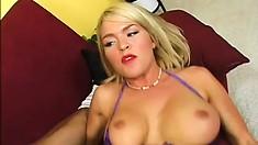 Krissy Lynn is a blonde doctor with a PHD on big black dicks