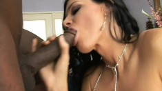 Gorgeous milf with a sexy slender body India Summer loves black cock