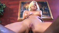 Staci Thorn gets a big black dick she sucks on, fucks, and gets up her ass