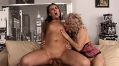 Lustful Housewives Devour Each Other's Peaches And Share A Long Dick