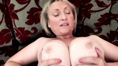 Hot big boobs blonde mature fucked by husband