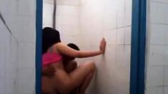 Hijab slut fucked in toilet