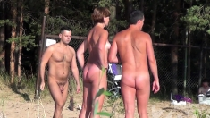 Dark Milf In Public Nudity And Daring Outdoor Mast