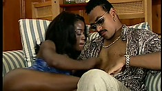 This ebony babe loves to use her mouth to get her lovers going