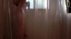 Twink Takes Shower While Being Recorded