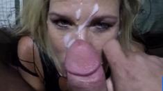 Cum facial for my girl