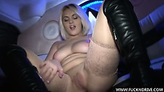 This Plump Blonde Babe Loves Two Things; Limos And Anal Play