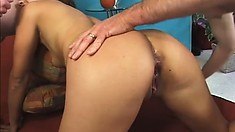 Latina sex goddess has all her holes plugged by horny stallions