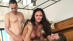 Slutty bride Venus gets a wedding present of another cock to bang her holes
