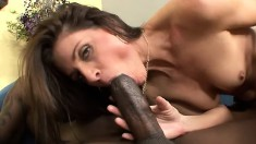 Beautiful India Summer tries to eat his big joint and gets nailed by it