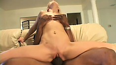 Marcus thrusts his black dick deep inside Jasmine's tight butthole